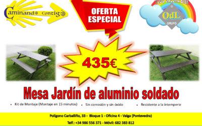 Oferta Especial Mesa Jardín