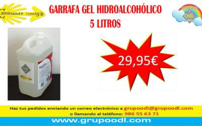 Garrafa de gel hidroalcohólico 5 litros