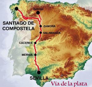 Albergues de la Vía de la Plata