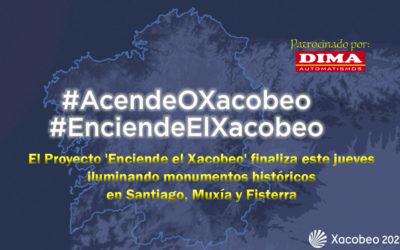El Proyecto 'Enciende el Xacobeo' finaliza este jueves iluminando monumentos históricos en Santiago, Muxía y Fisterra