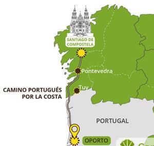 Albergues de Camino Portugués por la costa